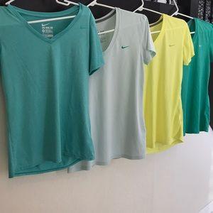 Bundle of 4 Nike Dri-Fit short sleeve t-shirts
